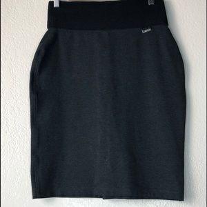 Calvin Klein Small Pencil Skirt Power Stretch Grey